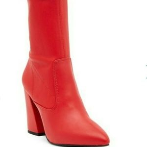 Kenneth Cole New York Galla Red Leather Boot